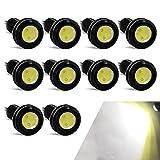 10PCS Luce Dell'occhio D'aquila Alta Potenza 18mm 9W Eagle Eye LED Per Luce Di Marcia Diurna Per Auto Moto Luci di Posizione DRL (Bianco)