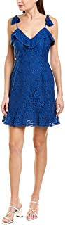 cupcakes and cashmere womens loma lace dress with tassel tie straps Dress