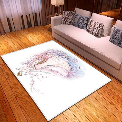 Gepolsterter Teppich Mit Süßem 3D-Muster Und Rutschfestem Fußpolster Mit Unebenheiten Auf Der Rückseite Geeignet Für Lässige Teppiche In Büros, Einkaufszentren Und Privathäusern, Stark Und Langlebig