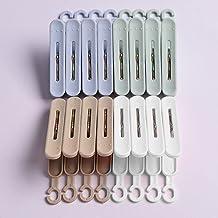 SHYPT 20 Pcs/suit Hanger Clip, Quilt Clip for Drying Clothes, Clothes Sock Clip, Clothespin, Windproof Plastic Clip (Color...
