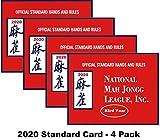 National Mah Jongg League 2020 Standard Size Card - Mah Jongg Card - 4 Pack