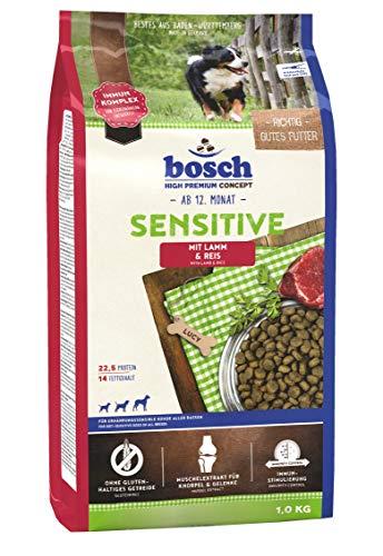 bosch HPC Sensitive Lamm & Reis | Hundetrockenfutter für ernährungssensible Hunde aller Rassen | 1 x 1 kg