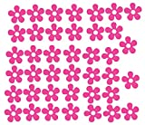 Lote de 40 pegatinas de vinilo para coche, bicicleta, diseño de flores