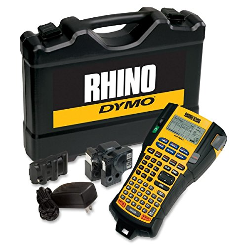 DYMO 1756589 Rhino 5200 Industrial Label Maker Kit, 5 Lines, 4 9/10w x 9 1/5d x 2 1/2h