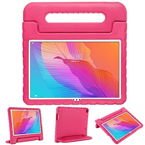 XunyLyee Custodia per Huawei MatePad T10   T10S antiurto Eva [impugnatura e funzione leggio] per Huawei MatePad T10S 10.1 pollici – Rosa
