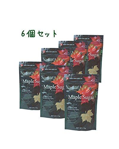 メープルシュガー さらさらメープルシロップ100%顆粒 170g ≪お得セット/メール便≫ (6個セット)