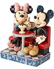 Enesco Disney Traditions by Jim Shore Mickey and Minnie Mouse Soda Shop Figurine, 6.25 Inch, Multicolor