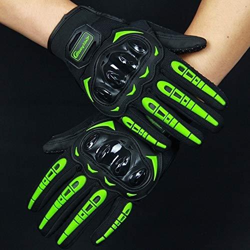 Guantes de motocicleta de pantalla táctil invierno verano motocross guantes de carreras (verde, XL)