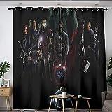 Elliot Dorothy Avengers Supereroe Iron Man Capitan America Hulk Tende personalizzate con occhielli oscuranti per camera da letto, soggiorno, cucina, 72 x 63