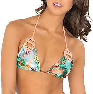 Women's Miami Nice Crochet Cut Out Triangle Bikini Top