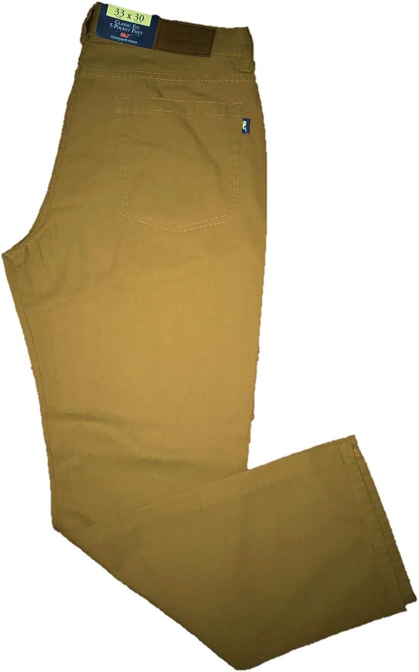 Vineyard Vines Men's Classic Fit 5-Pocket Canvas Pant