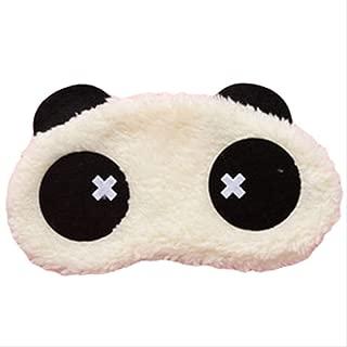 Masque de Nuit Soie et Coton Occultant Ultra-Douce Masque de Voyage Masque pour Les Yeux Ajustable pour Dormir Sieste Confortable Outflower Panda Animaux Masque de Sommeil