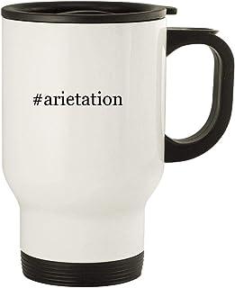 #arietation - 14oz Stainless Steel Travel, White