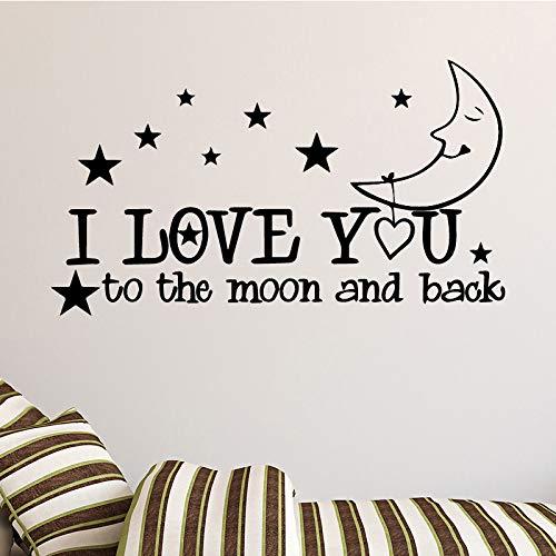 Kleine Sterne mit Mondmuster Wandaufkleber für Kinderzimmer Dekoratives Zubehör Wandtattoos Tapete Silber L 43cm X 80cm
