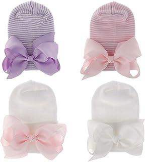 قبعة المستشفى لحديثي الولادة من Adeimoo قبعة مع عقدة لينة لينة لطيفة للأطفال الرضع في غرفة الأطفال