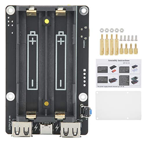 Power Management-Erweiterungskarte, USV-Netzteil-Erweiterungsmodul Typ-C-Ausgang für 18650-Standardbatterien