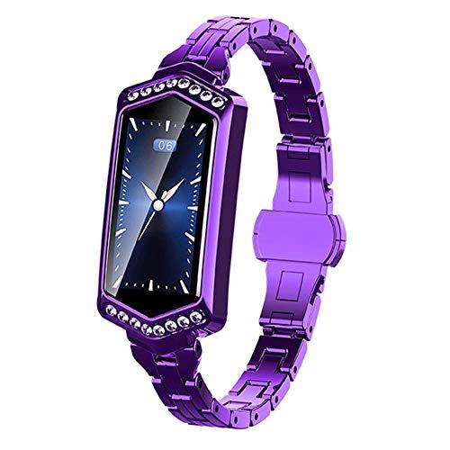 GYBN Pulsera Inteligente de Color para Mujer, cámara de Control Remoto, Reloj Resistente al Agua, con reconocimiento automático de Movimiento-Purple