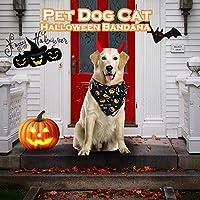 Bellaペットハロウィンクリスマスペットタオルバンダナビブスカーフ犬ペット犬のスカーフ首輪アジャスタブル子犬三角バンダナペット唾液タオル
