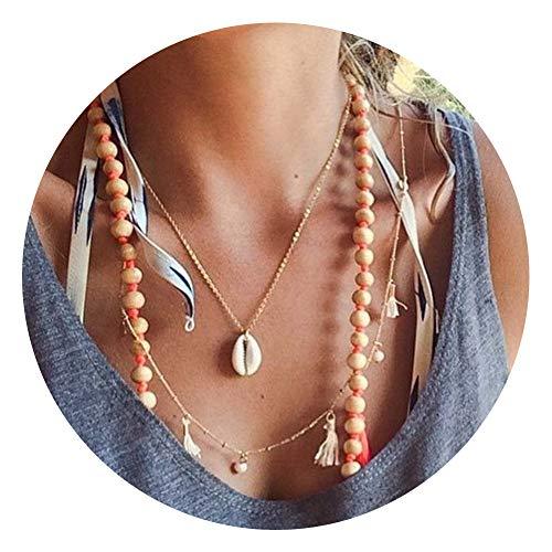 Delleu Beach - Conch Muschel - Halskette, Armband, Samt Kette, Schmuck, Frauen goldfarben