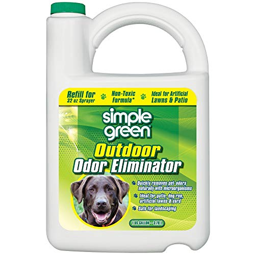 Simple Green Outdoor Odor Eliminator for Pets, Dogs, 1 gallon Refill - Non-Toxic, Ideal for...