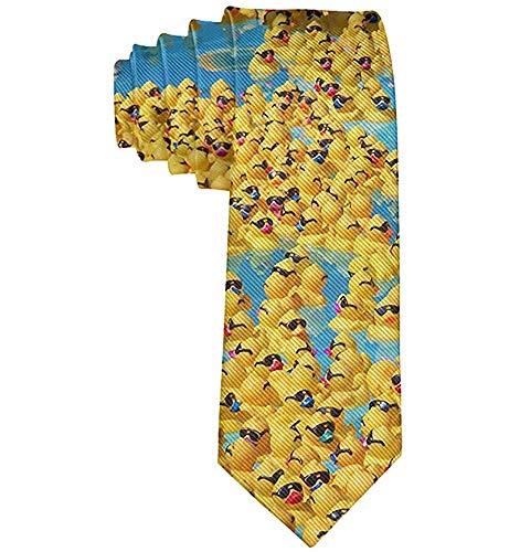 Corbata Para Hombre Corbata,Corbata De Moda Para Hombre Patos Amarillos De Goma Con Gafas De Sol Corbata Talla Única,Neck Tie,Largo 145 Cm