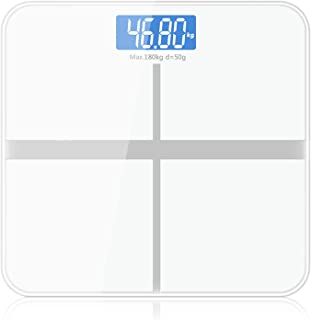 180kg/50g Floor Bathroom Scale for Body Weigh Smart Household Electronic Digital Heavy Weigh LCD Display Precision,China,White