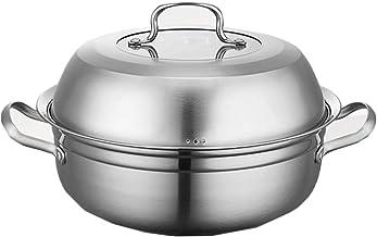 MSWL Steam Pot Stainless Steel Seafood Sauna Pot Steamer Steam Hot Pot Stew Pot Soup Pot Induction Cooker Home hot pot, ki...