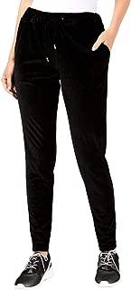 Womens Velvet Shimmer Sweatpants Black XL