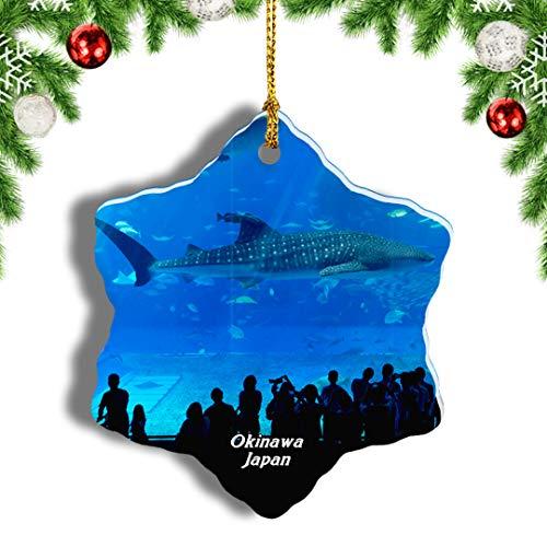 Weekino Churaumi Aquarium Okinawa Japan Weihnachten Anhänger Baum Weihnachtsdeko Baumschmuck zum Hängen Reiseandenken