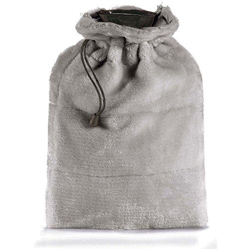 Torchons & Bouchons Vivaraise - Bouillotte Tender - 23x33 cm – 1,75L – Poche Amovible avec Bouteille en PVC – Housse Microfibre en Peluche Douce - Fausse Fourrure Chaude - Style Cosy