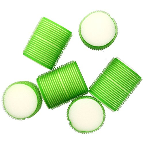 Hair Tools - Pack de 6 Rouleaux à Cheveux - Snooze Rollers - Taille 48 mm - Vert