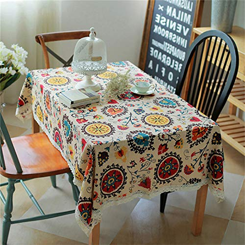HTUO Tablecloth Christmas Decoration Heavy Duty Waterproof Table Cloth Rectangle Table Wipe Clean Vinyl Tablecloth Oil Proof Table Cover Kitchen Dining Table Living Room Outdoor 150 * 220cm