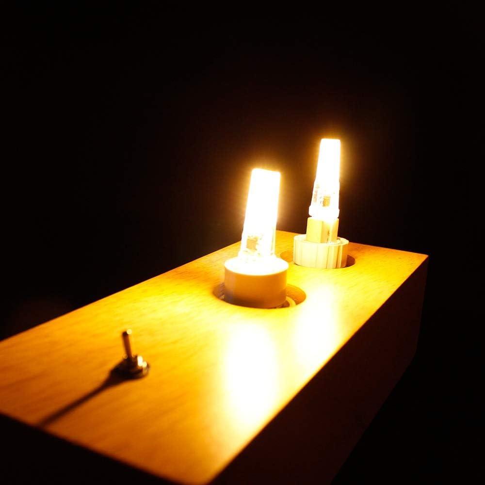HHF LED Bulbs Lamps LED Bulb G4 G9 E14 3W 2W 220V ACDC 12V G4 LED Lamp COB Lights Replace 25W Halogen Bulb Color : Warm White, Emitting Color : 220V E14 COB 2508