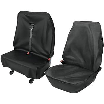 Doppelbank schwarz VW Crafter Sitzbezüge Sitzschoner Fahrersitz