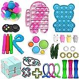 SSYY Fidget Toy Pack, Juguetes Sensoriales Fidget para El Alivio De La Ansiedad para Niños y Adultos Set, De Juguetes Sensoriales Fidget para Regalo de Cumpleaños, Relleno de Bolsas de Caramelos