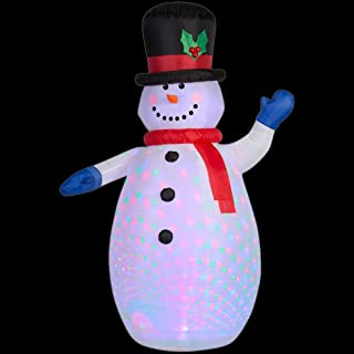 Gemmy Airblow Projection Kaleidoscope Inflatable Snowman 6.5ft. Tall Indoor/Outdoor Holday Decoration