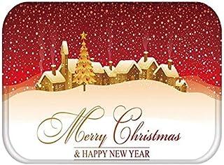 Matta i hall kök dörrmatta god jul hjort välkommen heminredning vardagsrumsmatta halkskydd dammtät matta A9 40 x 60 cm