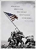 Buyartforless Diese Flagge auf Iwo Jima Foto 22x 16mit Zitat von Oliver Wendell Holmes Kunstdruck Poster Historic World War 2Pacific vorne