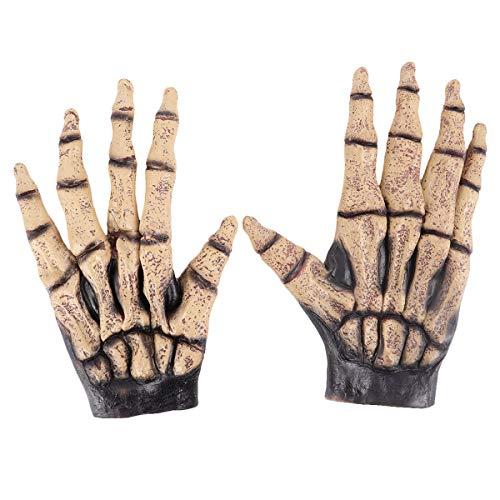 SOIMISS Guantes de Esqueleto de decoracin de Terror para Halloween, Color marrn