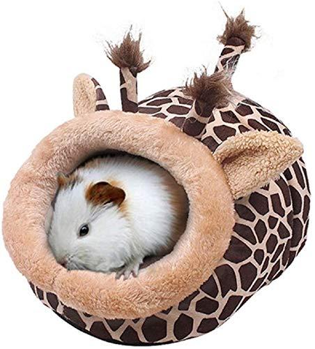 Cama para Mascota Pequeña de Felpa Formas Animales Cama Mascota para Animales Pequeños Hámster Conejo Erizo Ratón Chinchillas Cobaya Hurón (Jirafa, XL)