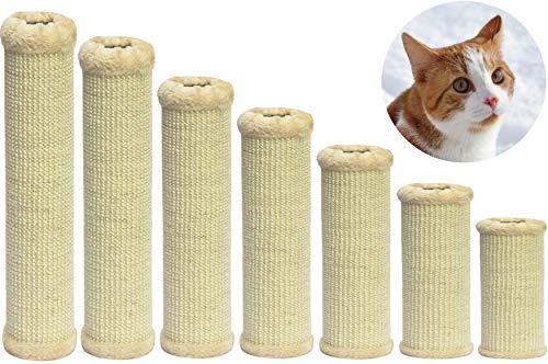 nanook Kratzsäule/Sisalsäule/Ersatzstamm für Kratzbäume - Ø 9 cm, Gewinde M8 - aus Teppichgewebe - beige - Länge 60 cm