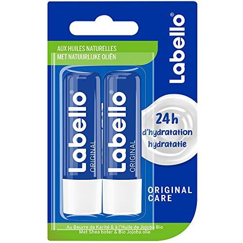 NIVEA Labello Original, Baume à lèvres enrichi en huiles naturelles et à la texture onctueuse, Soin des lèvres Hydratation longue durée pendant 24H