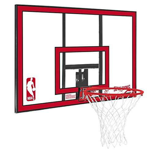 Spalding Korbanlage NBA Polycarbonat Backboard Basketball, red, One size