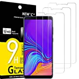 NEW'C 3 Unidades, Protector de Pantalla para Samsung Galaxy A9 2018, Galaxy A9 Star Pro, Galaxy A9S, Antiarañazos, Antihuellas, Sin Burbujas, Dureza 9H, 0.33 mm Ultra Transparente, Vidrio Templado