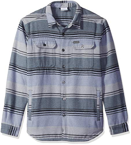 Columbia Men's Windward IV Shirt Jacket, Graphite Stripe, XXL