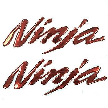 Red 3D Logo Emblem Sticker Decal Polish Gloss Raise Up Compatible with Kawasaki Ninja 250 300 400 650 1000