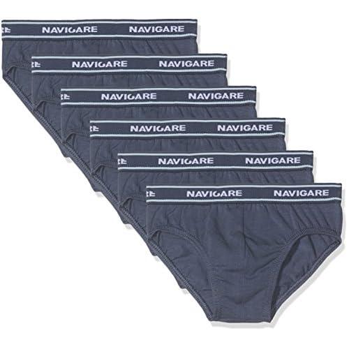 Navigare 13023 Mutande, Multicolore (Navy / Jeans / Jeans / Bluette / Azzurro / Grigio), 3-4 Anni (Taglia produttore:3), Pacco da 6, Bambino