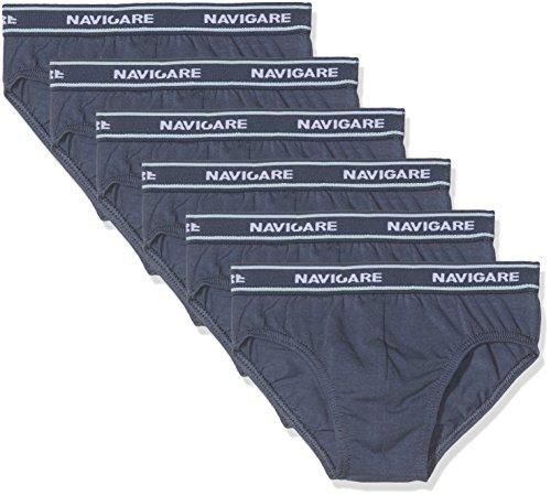 Navigare 13023 Mutande, Multicolore (Navy / Jeans / Jeans / Bluette / Azzurro / Grigio), 4-5 Anni (Taglia produttore:4), Pacco da 6, Bambino