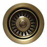 Whitehaus WH200-ABRAS 3-1/2-Inch Waste Disposer Trim, Antique Brass