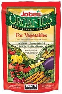 Jobes 06028 Organics Vegetable Fertilizer Spikes 2-7-4 50 Pack